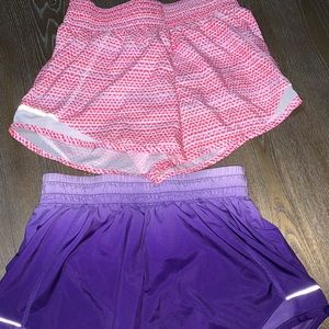 Lot Of 2 Athletic XL (14-16) Girls Dri Fit Shorts